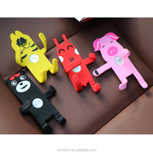 New Mobile Phone Holder Customized Flexible DIY Cartoon Mobile Phone Car Holder Silicone Air Vent Car Phone Holder
