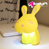 Decorative cordless night light ABS white USB charge pig led study desk lamp