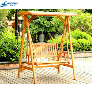 Charmant Two 3 Seats Outdoor Furniture Wooden Hanging Chair Park Garden Swing   Buy  Garden Swing,Two Seat Swing Chair,Wooden Garden Swing Product On ...