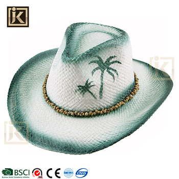 ea5ca04481648 JAKIJAYI wholesale straw cowboy hat manufacture summer paper made custom  caps hats men