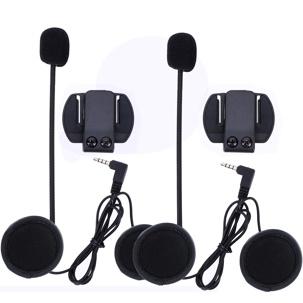 2 set Headset & Clips Set Motorcycle Accessories for V6 V4 Bluetooth Helmet intercom Stereo Headphone Free Shipping!