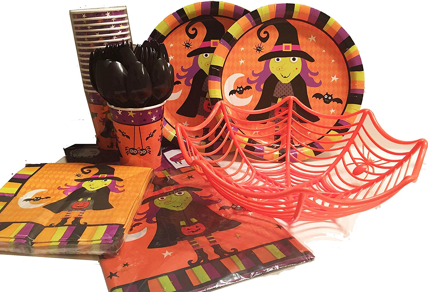 halloween spooky theme party supplies bundle 2016 104 pcs serves 18 guests