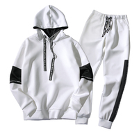 custom casual 2 pieces sport pull over hoodies for men