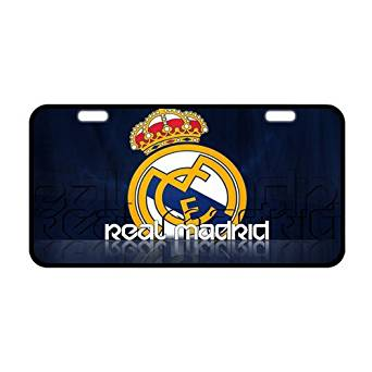 Custom Fc Real Madrid Metal License Plate Custom Car Decoration License Plate Cover Car Tag-10