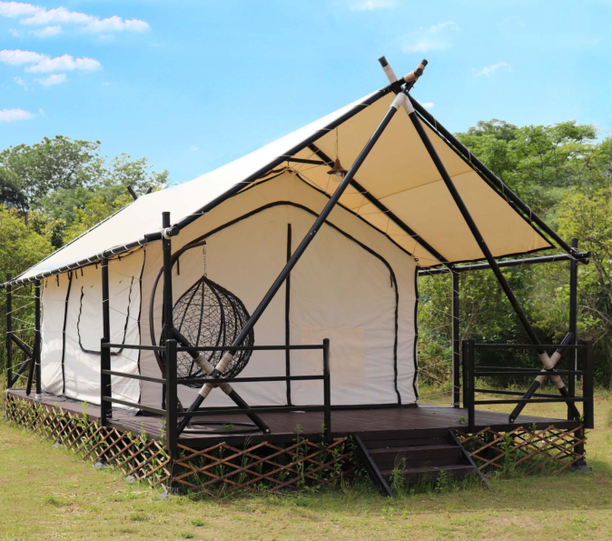 Top Quality Small Glamping House Comfortable Semi Permanent Family