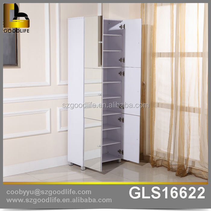 Goodlife New Style Modern Mirror Shoe Cabinet Furniture, Wooden Shoe Rack  Design