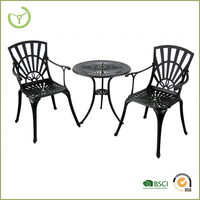 Garden furniture outdoor furniture of cast aluminum material tables and chairs for events