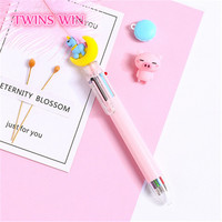2019 cute stationary moon unicorn thin 6 color press ball point pen 103