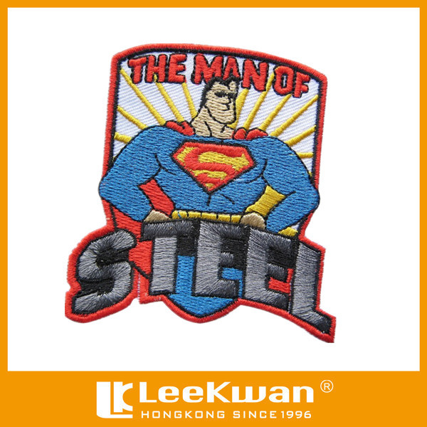 Embroidered Superman Of Steel Badge/Embrlem/Patch Applique
