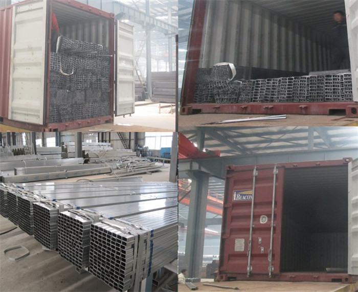 Hot Dipped Galvanized Square and Rectangular Steel Pipe/SHS/RHS, GI Square Hollow Section