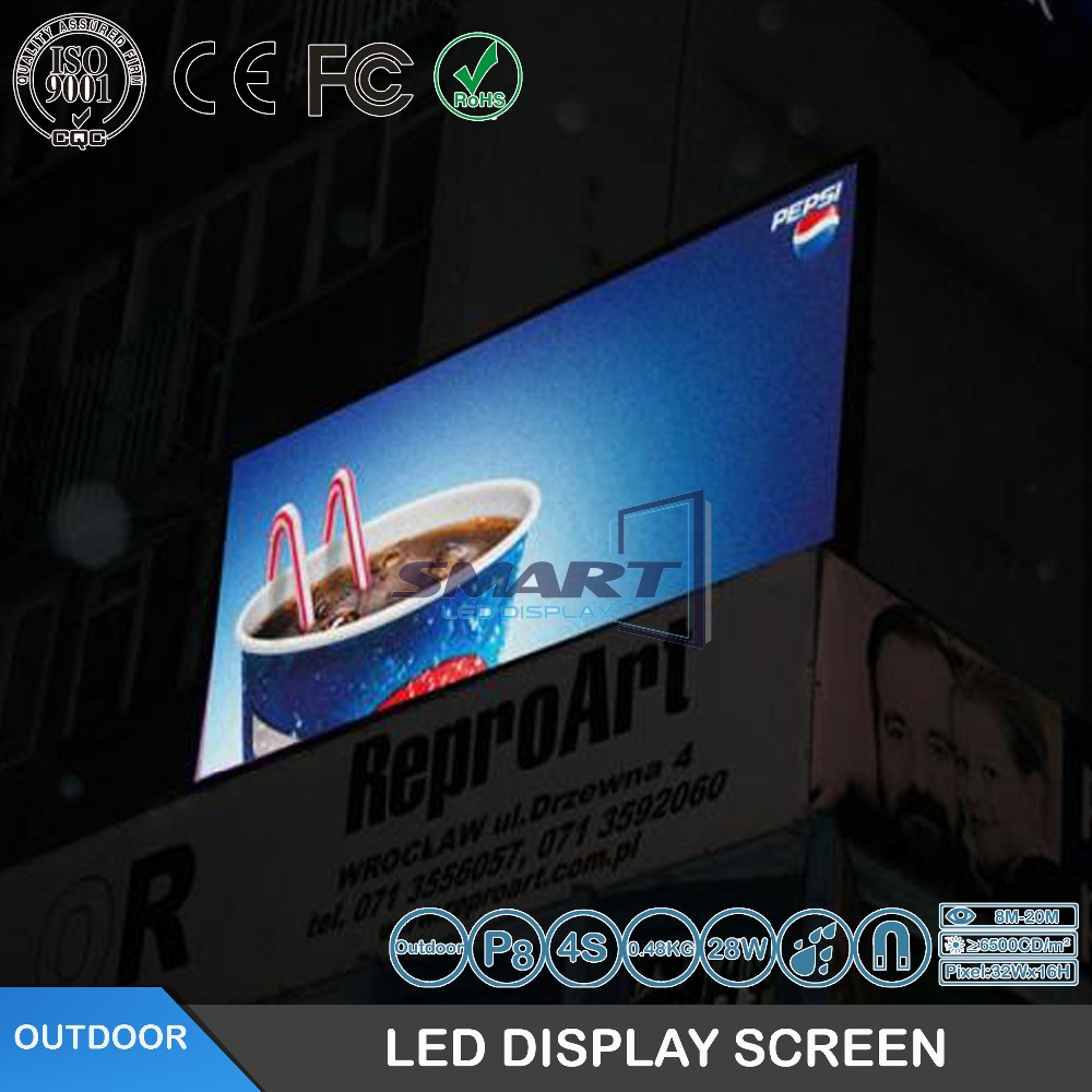 FactoryP8 outdoor DIP full color videled display <strong>screen</strong>