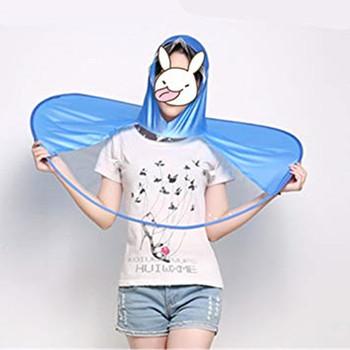 1a99c7f71078b Buy Cute UFO Waterproof Hands Free Umbrella Rain Hat Headwear Cap Raincoat  For Outdoor Fishing Golf