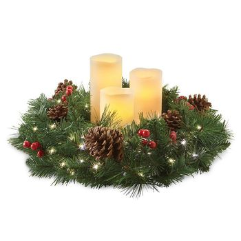 Holiday Pillar Candle Rings