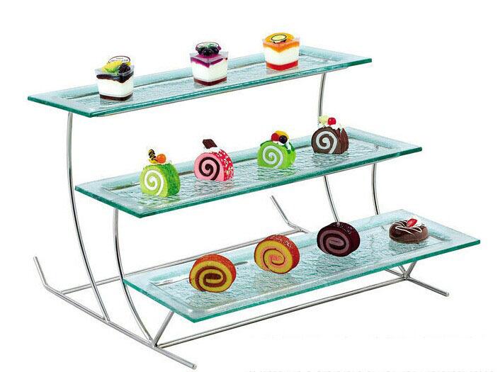 Buffet Display Stands rectangle shape acrylic buffet display tier lucite buffet rack 2