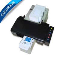 Automatic 50Pcs CD/DVD/PVC card Printer continuty printing