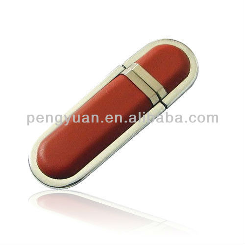 Hot sell usb flash drive leather with cover (PY-U-031)