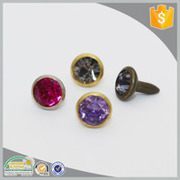nickle free crystal gold metal decorative rivets