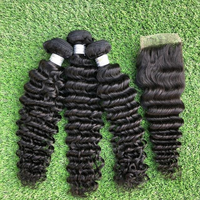 Peruvian Hair Deep Wave Remy human Hair Extension