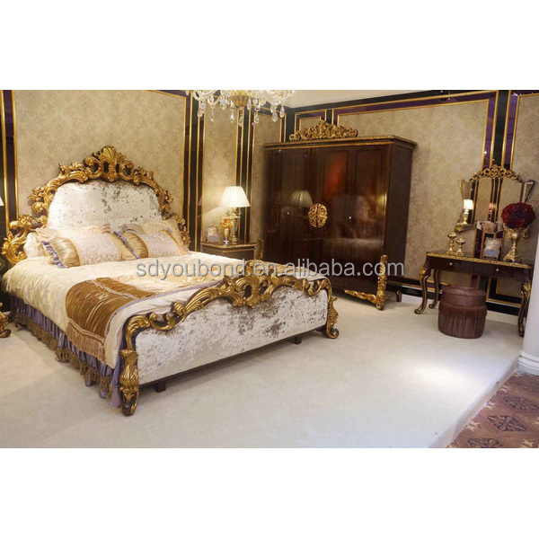 0063 Royal High End Solid Wood Furniture Luvury Hotel And Home Bedroom