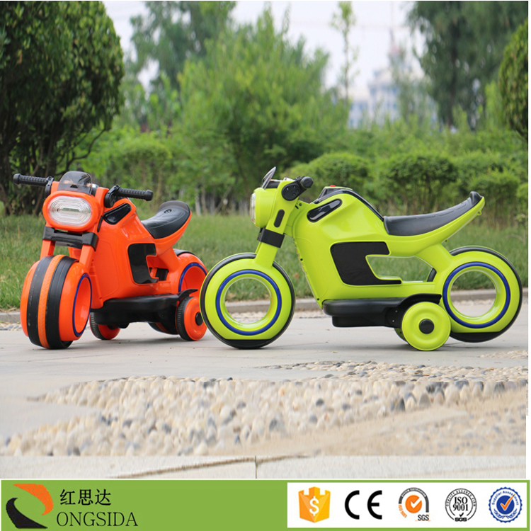 alibaba supplier new model 3 wheel eletric kids motorcycle flashing wheel motorbike for kids