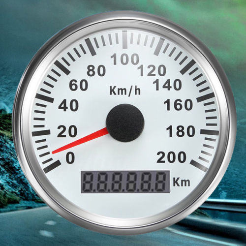 200Km/H 85mm Waterproof Digital Stainless GPS Speedometer Car Truck Gauge
