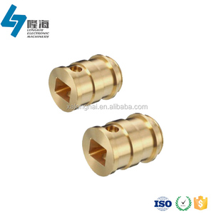 High precisions custom machining square hole copper pipe bushing