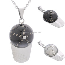 Hot sale stainless steel keep me warm baseball cap necklace for men