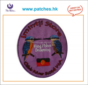 Patches Product Type and Iron-On Style bird embroidery