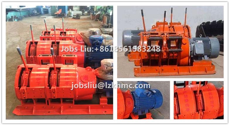 800 kg Elektrikli Çift Tamburlu Slusher Madencilik Vinç Kazıyıcı Kova