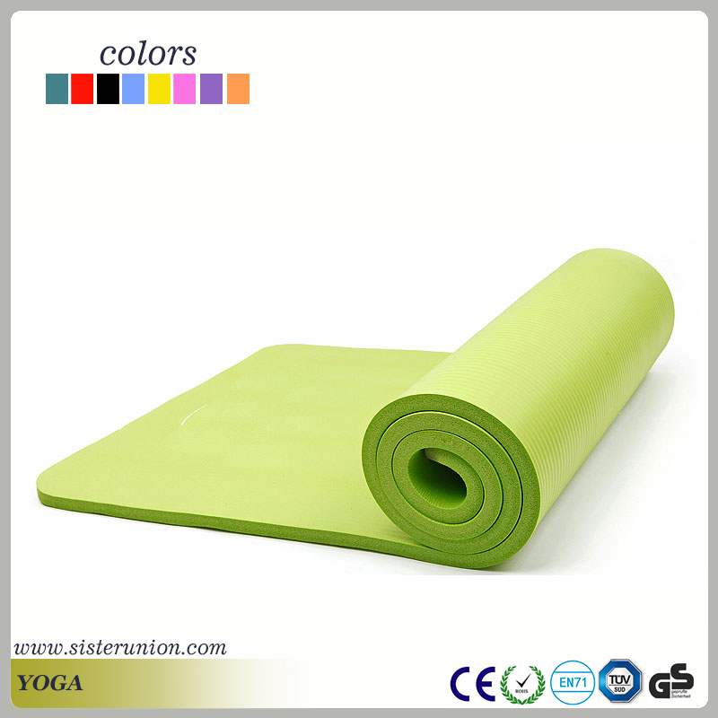 Yoga exercise fitness Gym workout 3mm-10mm thickness PVC/NBR/TPE mat