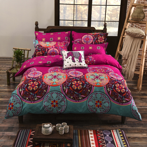Wholesale New Design Elephant Element Boho Mandala Bedding Set National Flavour Duvet Covet Set