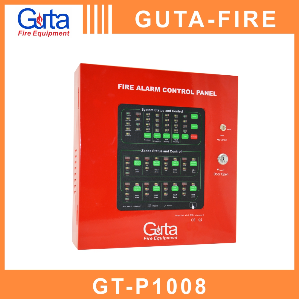 Guta Fire 8 Zones 2 wired easy to use fire alarm system