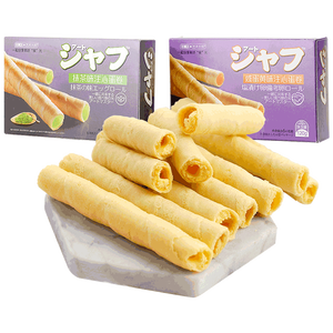 Best delicious Matcha flavor egg rolls crispy cookies for sale