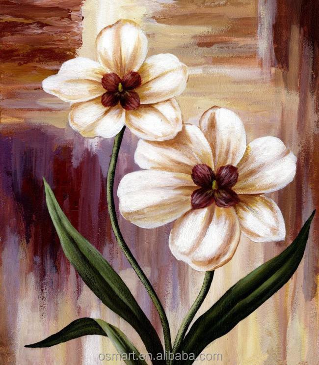 Lukisan Abstrak Bunga Cikimmcom