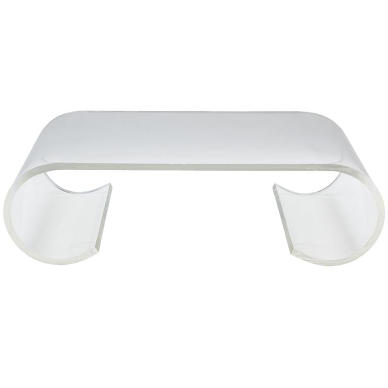 Modern Acrylic Coffee Table Tea Gl Furniture Long End Office Plexiglas Console Computer Study