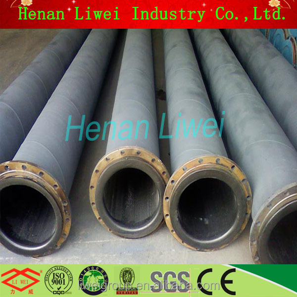 Epoxy coated excellent wear resistance soft natural rubber lined pipes