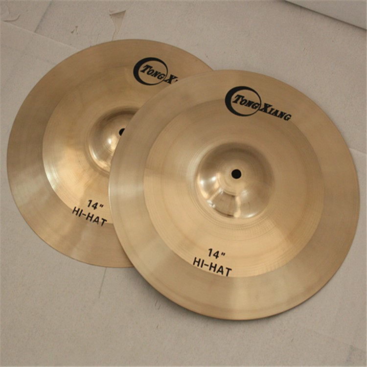 Venda quente China bronze crash/passeio/hihat/splash cymbal definido para set de bateria