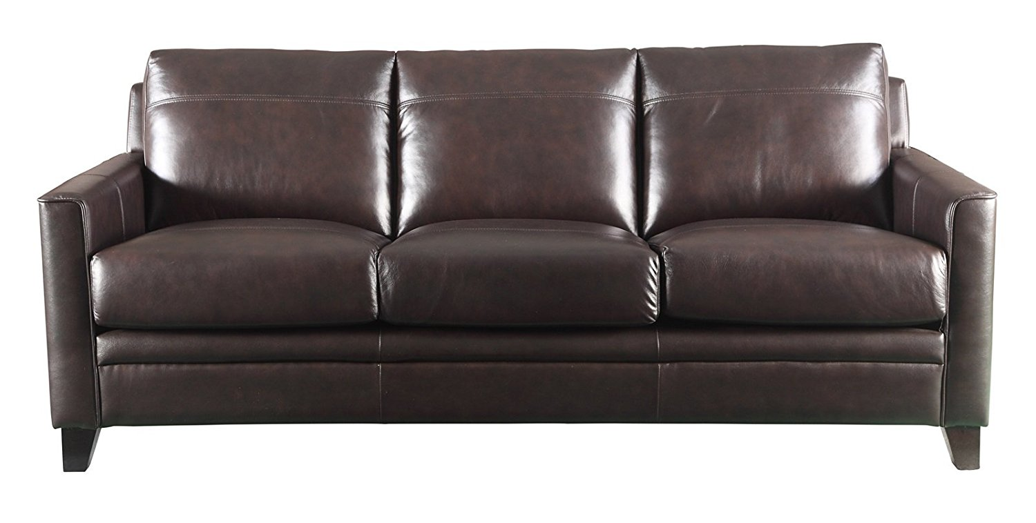 Leather Italia USA Fletcher Living Room Set with Sofa and Loveseat