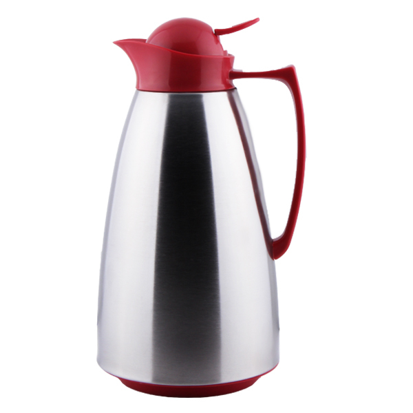 Tea pot vacuum flask Plastic handle and cover SS201 body colorful Gap