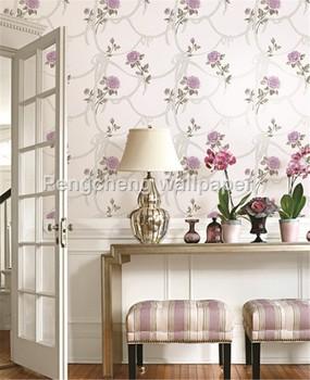 purple color flower wallpaper size 05310m deep embossing pvc waterproof wallpaper for home office