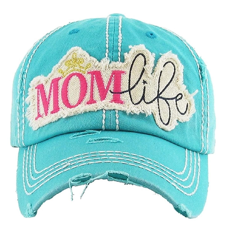 Get Quotations · KB JP Adjustable Mom Life Princess Crown Vintage  Distressed Womens Ladies Hat Cap 3c5faa47d15a