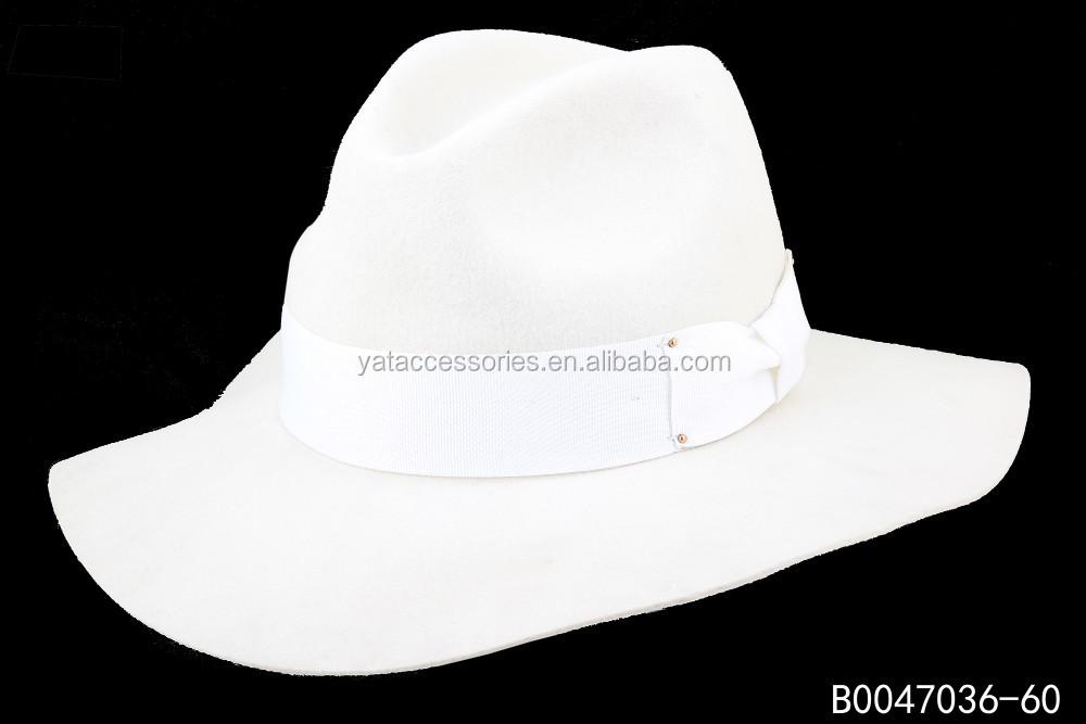 8bbb9d814 Lady White Ivory Color Wool Felt Fedora Hats,Ladies Wide Brim Wool Felt  Hat,Big Brim Fedora Hat - Buy Fedora Hats,Lady Ivory Hats,Wide Brim 100%  Wool ...