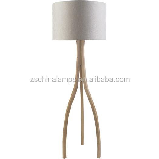 2017 hotel decorativa moderna lámpara de piso en cromo o níquel ...
