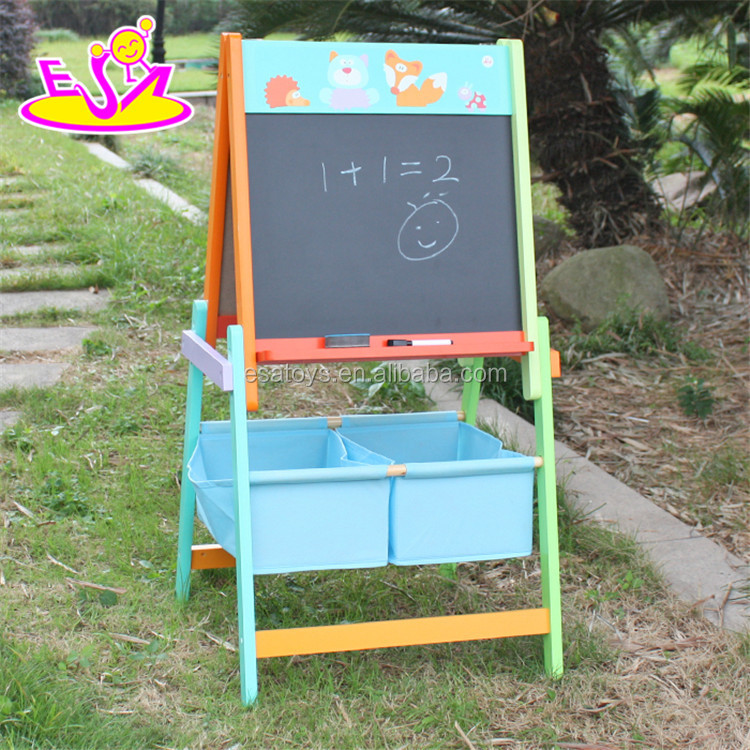 2017 Top fashion children wooden magnetic chalkboard multi-function kids wooden magnetic chalkboard W12B102-S
