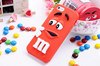 3D Silicone Cartoon m&m Chocolate Beans Case cover for iphone 5 5s iphone5,300pcs/lot