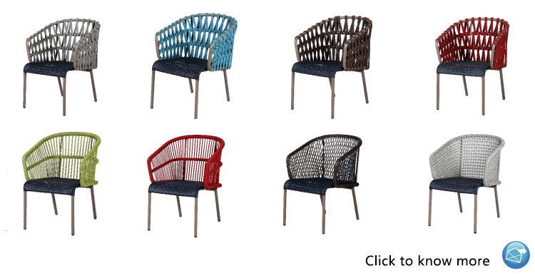 Wholesale modern and elegant aluminum hotel dining chair, home goods outdoor dining chair