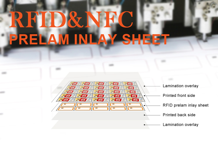 PVC Smart TK4100 RFID Card Inlay Sheet Prelam