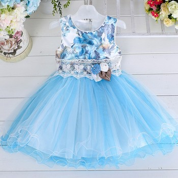 Baby Frock Design Pictures New Model Girl Puffy Princess Lace Fower ...