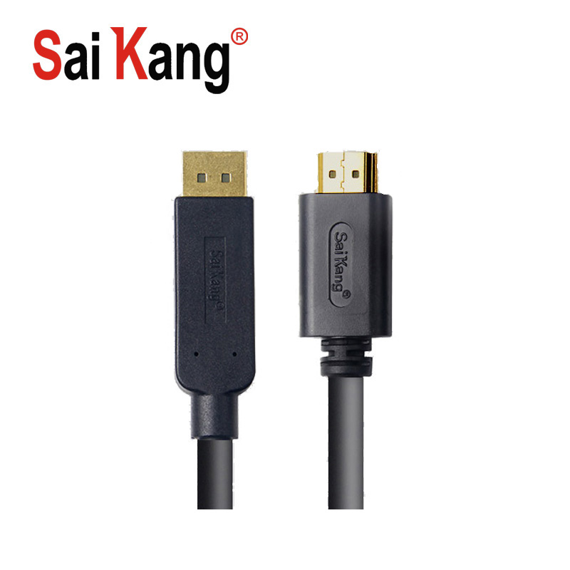 SaiKang hdmi cable 4k 1080p computer wire and cable male to male displayport dp to hdmi cableConnection signal