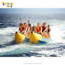 Hot sale 3 tubes inflatable flying fish banana boat/flying towables toys for water sports